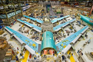 Boeing 747-8 U.S. assembly line.